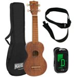 Mahalo 2500 Kahiko Series in Brown Soprano Ukulele with Digital Tuner and Strap