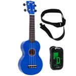Mahalo Ukulele in Blue with Digital Tuner and Strap