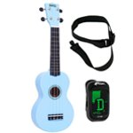 Mahalo Ukulele in Light Blue with Digital Tuner and Strap