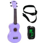 Mahalo Ukulele in Purple with Digital Tuner and Strap