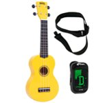 Mahalo Ukulele in Yellow with Digital Tuner and Strap