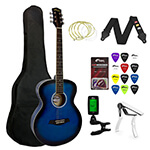 Tiger Beginners Acoustic Guitar Package - Blue