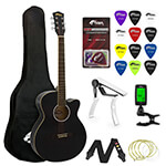 Tiger Beginners Electro Acoustic Guitar Package - Black