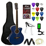 Tiger Beginners Electro Acoustic Guitar Package - Blue