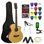 Tiger Beginners Electro Acoustic Guitar Package - Natural