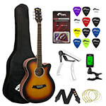 Tiger Beginners Electro Acoustic Guitar Package - Sunburst