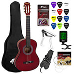 Tiger 3/4 Size Red Classical Guitar Package