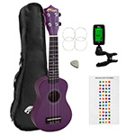 Beginners Soprano Ukulele in Purple & Clip-On Tuner Kit