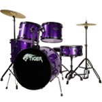 B Grade - Tiger Full Size Drum Set in Purple - Damaged Boxes