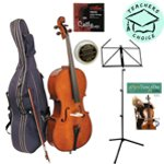 Stentor Student I Cello Outfit 1/2 Size with Padded Bag, Spare Strings, Peg Paste, Music Stand and A New Tune A Day Cello Book 1 & CD