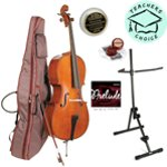 Stentor Student II Cello Outfit 4/4 Size with Padded Bag, D\\'\\'addario Cello Strings, Peg Paste, Stand and Rosin