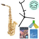 Odyssey OAS130 Alto Saxophone Outfit with Case, Stand & Absolute Beginners Alto Sax Book & CD