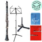 Odyssey OCL120 Student Clarinet Outfit with Case, Rico Reeds, Music Stand, Clarinet Stand and A Tune A Day For Clarinet Book One