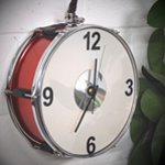Musically Inspired Drum Clock - Contemporary Furniture Piece