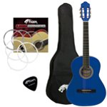 Tiger Left Handed 3/4 Blue Classical Guitar Package