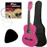 Tiger Left Handed 1/2 Size Pink Kids Classical Guitar Package