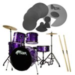 Tiger Purple Full Size Drum Kit Pack with Drum Silencer Pads