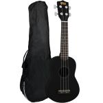 Mad About Beginners Left Handed Soprano Ukulele in Black