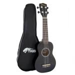 Ebay Item - Tiger Black Beginner Soprano Ukulele with Bag - Scratches/Used