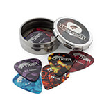 12 x Tiger Guitar Picks with Tin