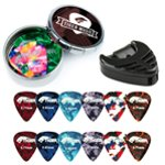 Tiger Guitar Picks, Plectrum Holder & Tin Pack - 24 Picks