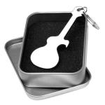 Tiger Personalised Guitar Shaped Bottle Opener Keyring