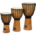 World Rhythm Jammer Rough Bark Natural Djembe Drums