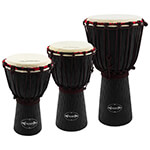 Student Wooden Djembe Drums by World Rhythm Percussion – African Drum in Black