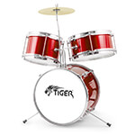 Mad About Junior 3 Piece Drum Kit in Red