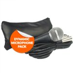 Tiger Dynamic Vocal Microphone and Cable with Carry Bag