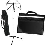Tiger Black Folding Music Stand & Music Bag Pack