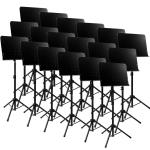 Tiger Pack of 18 Solid Desk Orchestra Music Stands - New 2016 Improved Design