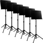 Tiger Pack of 6 Solid Desk Orchestra Music Stands - New 2016 Improved Design
