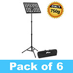 Tiger Pack of 6 Lightweight Music Stands with Bags