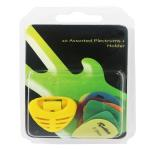 Plectrums with Pick Holder - Assorted Colours