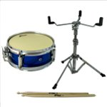 Tiger Junior Snare Drum Pack - Including Snare, Stand & Sticks - Blue 10 Inch