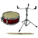 Tiger Junior Snare Drum Pack - Including Snare, Stand & Sticks - Red 10 Inch