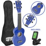 Mad About Beginner Soprano Ukulele in Blue with FREE Uke Bag & Tuner