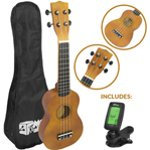 Mad About Beginner Soprano Ukulele in Natural with FREE Uke Bag & Tuner
