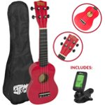 Mad About Beginner Soprano Ukulele in Red with FREE Uke Bag & Tuner