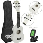 Mad About Beginner Soprano Ukulele in White with FREE Uke Bag & Tuner