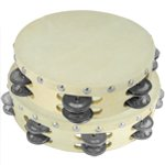 Tiger Double Row Wood Tambourine