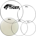 Tiger Fusion Drum Heads Pack