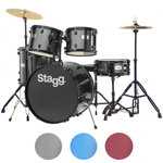 Stagg Drum Kit with Black Hardware