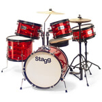 B GRADE - Stagg Red 5 Piece 16\