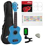 Tiger Blue UKE7 Soprano Ukulele Kit Beginners Pack