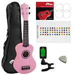 Tiger Pink UKE7 Soprano Ukulele Kit Beginners Pack