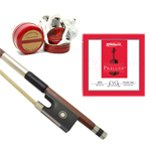 Theodore Ebony Violin Bow, Rosin and String Set - Accessory Pack