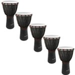 World Rhythm 5 Pack of 50cm Wooden Djembe Drums - 9\