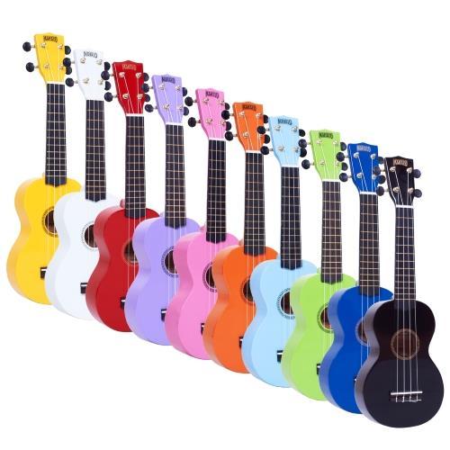 Mahalo rainbow ukul l soprano avec housse jaune brillant for Porte ukulele